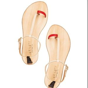CORNETTI xRevolve Red Black & Nude Panarea Sandals